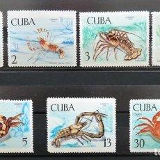 Sellos: 7 SELLOS CUBA. 1969 CRUSTÁCEOS. Lote 227781785