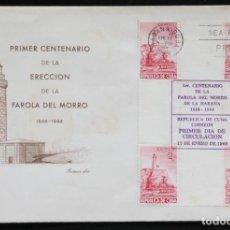 Timbres: FDC-24 CUBA 1949 CENTENARIO FARO DEL MORRO DE LA HABANA. SOBRE PRIMER DIA. Lote 228835285