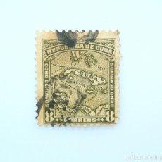 Sellos: SELLO POSTAL CUBA 1914, 8 ¢, MAPA DEL PAIS, USADO. Lote 230322305