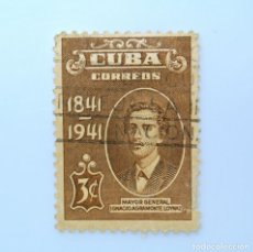 Sellos: SELLO POSTAL CUBA 1942, 3 ¢, I. AGRAMONTE LOYNAZ, USADO. Lote 230328230