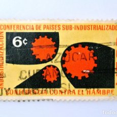 Sellos: SELLO POSTAL CUBA 1961, 6 ¢, CONFERENCIA DE PAISES SUB-INDUSTRIALIZADOS, USADO. Lote 230488160