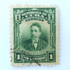 Sellos: SELLO POSTAL CUBA 1911, 1 ¢, BARTOLOME MASO, USADO. Lote 230488905