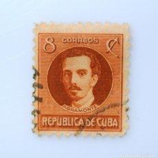 Sellos: SELLO POSTAL CUBA 1917, 8 ¢, IGNACIO AGRAMONTE, USADO. Lote 230568525