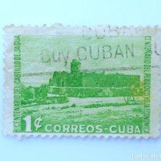 Sellos: SELLO POSTAL CUBA 1949, 1 ¢, BICENTENARIO DEL CASTILLO DE JAGUA, USADO. Lote 230648600