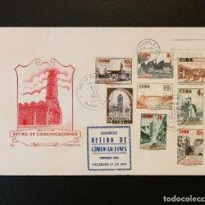 """Timbres: CUBA FDC 1957. """"RETIRO DE COMUNICACIONES """" LILY. Lote 233615295"""