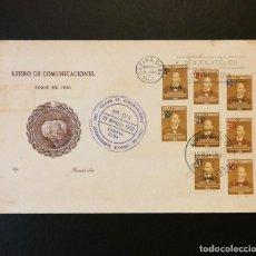 Timbres: CUBA 1952 FDC-84 . RETIRO DE COMUNICACIONES. FERNANDO FIGUEREDO HABILITADO. SPD. Lote 233763955