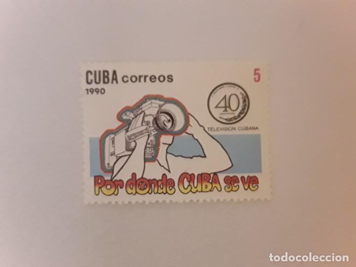 AÑO 1990 CUBA SELLO USADO (Sellos - Extranjero - América - Cuba)