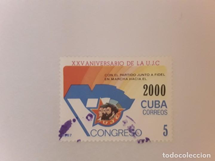 AÑO 2000 CUBA SELLO USADO (Sellos - Extranjero - América - Cuba)