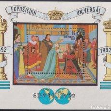 Sellos: 1992.86 CUBA 1992 HF EXPO UNIVERSAL SEVILLA DISCOVERY COLUMBUS NO GUM.. Lote 234972815