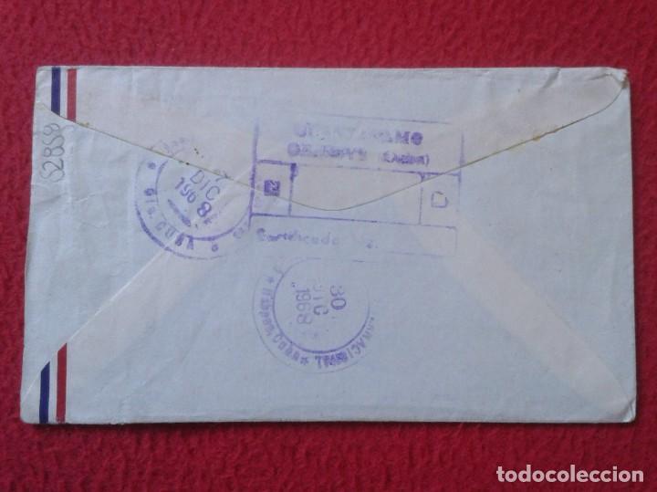 Sellos: ANTIGUO SOBRE CIRCULADO ENTRE GUANTÁNAMO (CUBA) Y ESPAÑA 1968 CON SELLOS CERTIFICADO, COVER ENVELOPE - Foto 5 - 235065270