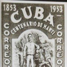 Sellos: O) 1953 CUBA - CARIBE, FOTOMECÁNICO, JOSÉ MARTI, EN ST. CANTERA LÁZARO SCT 503 30C, CONDENACIÓN A TR. Lote 235186595