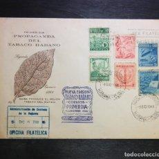 Sellos: CUBA 1948 SOBRE PRIMER DIA FDC PROPAGANDA DEL TABACO. LILY.. Lote 235386990