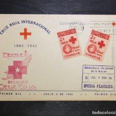 Sellos: CUBA 1946 FDC SOBRE PRIMER DIA . EMISION CRUZ ROJA. Lote 235387185