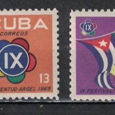 Sellos: 1034-2 CUBA 1965 MLH WORLD YOUTH AND STUDENTS FESTIVAL. Lote 235485715