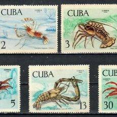 Sellos: 1468-3 CUBA 1969 MLH CRUSTACEANS. Lote 235485725