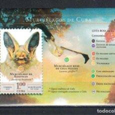 Sellos: 2019-35B CUBA 2019 MNH BATS. Lote 235485755