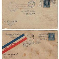 Sellos: CUBA: 1927; 2 SOBRES PRIMER VUELO HABANA - KEY WEST TC010. Lote 236168775
