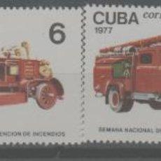 Selos: LOTE O-SELLOS CUBA NUEVOS SIN CHARNELA COCHES DE BOMBEROS. Lote 236624725