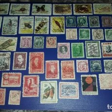 Sellos: LOTE DE 53 SELLOS CIRCULADOS DE CUBA. NINGUNO REPETIDO.. Lote 236690280
