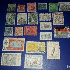 Sellos: LOTE DE 22 SELLOS CUBA. CIRCULADOS. NINGUNO REPETIDO.. Lote 236691535