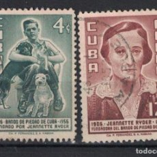 Sellos: 540-3 CUBA 1957 U THE 50TH ANNIVERSARY OF THE BAND OF CHARITY, FOR THE PREVENTION OF CRUELTY TO ANIM. Lote 236771380