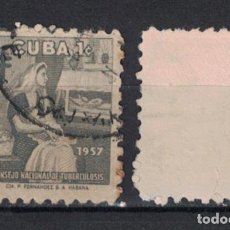 Sellos: 35-4 CUBA 1957 U TAX FOR THE NATIONAL COUNCIL OF TUBERCOLOSIS FUND. Lote 236771425