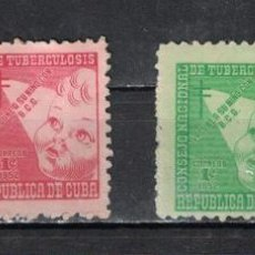 Sellos: 17-3 CUBA 1952 MNH TAX FOR THE OF TUBERCOLOSIS FUND. Lote 236771595