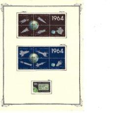 Sellos: CUBA: 1964; SERIE DE LOS SATELITES EN BLOQUES, EXCEPCIONAL SET DE 31 SELLOS, NUEVOS TC025. Lote 236776100
