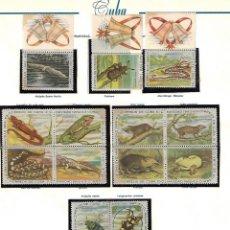 Sellos: CUBA: 1962; NAVIDAD 62-63 SERIE DE REPTILES E INSECTOS EN BLOQUES, NUEVA CON ALGUN OXIDO. Lote 236809660
