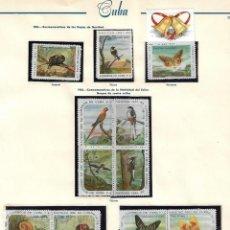 Sellos: CUBA: 1961; NAVIDAD 61-62 SERIE DE AVES Y MARIPOSAS. CARACOLES EN BLOQUES, NUEVA CON ALGUN OXIDO TC. Lote 236810975