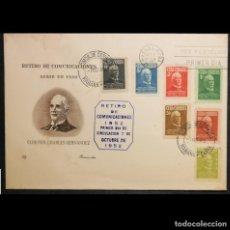 """Selos: CUBA 1952. FDC. 340-345. SOBRE PRIMER DIA. """"RETIRO COMUNICACIONES"""" . CORONEL CHARLES HERNANDEZ. Lote 237376710"""