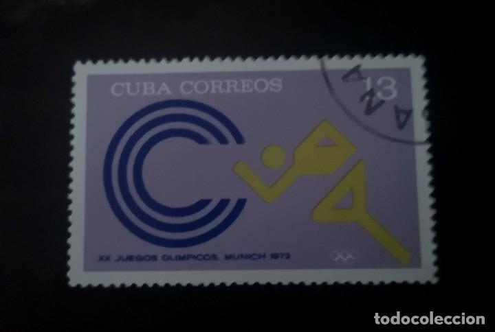 CUBA 1972 SELLO DEPORTES SPORT JUEGOS OLIMPICOS MUNICH (Sellos - Extranjero - América - Cuba)