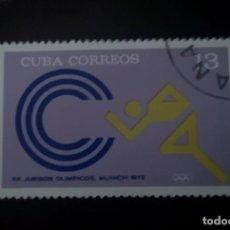Sellos: CUBA 1972 SELLO DEPORTES SPORT JUEGOS OLIMPICOS MUNICH. Lote 239901815