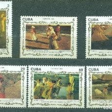 Sellos: CUBA 1993 PAINTINGS BY JOAQUIN SOROLLA IN THE NATIONAL MUSEUM MNH - PAINTINGS, PAINTING. Lote 241345665