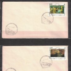 Sellos: CUBA 1993 FDC PAINTINGS BY JOAQUIN SOROLLA IN THE NATIONAL MUSEUM - PAINTINGS. Lote 241486925