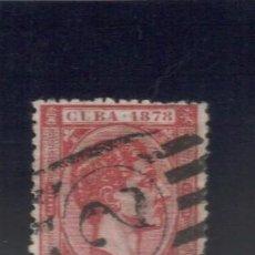 Sellos: 1878 EDIFIL 48 CUBA ALFONSO XII 1 PESETA MATASELLOS PAQUEBOT NORTEAMERICANO Nº 2. Lote 241998055