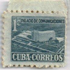 Sellos: AÑOS 50 SELLO DE CUBA CORREOS 1CENTAVO PALACIO DE COMUNICACIONES NO FRANQUEADO. Lote 242829995