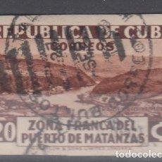 Sellos: CUBA. YVERT 227B USADO SIN DENTAR, ESTABLECIMIENTO DE LA ZONA FRANCA DEL PUERTO DE MATANZAS.. Lote 246482650
