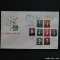 Sellos: CUBA 1959 FDC. SOBRE PRIMER DÍA. PRESIDENTES DE LA REPÚBLICA. Lote 248831595