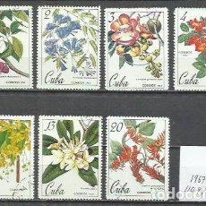 Sellos: 2610-IE COMPLETA CUBA FLORA NATURALEZA 1967 Nº1109/15 USADOS, CALIDAD.CARIBE AMERICA. Lote 249376675