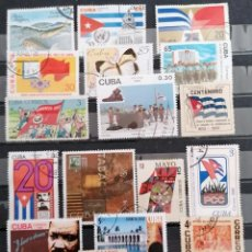 Sellos: CUBA LOTE 20 SELLOS DIFERENTES *. MH ( 21-385). Lote 253427145