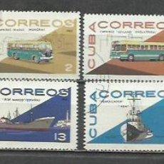 Sellos: 9308-SERIE COMPLETA CUBA TRANSPORTES 1965 Nº 942/9 , VEHICULOS.. Lote 254995600