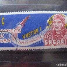 Sellos: CUBA, 1963, VUELOS ESPACIALES, GAGARIN Y VOSTOK I, YVERT 657. Lote 255950005