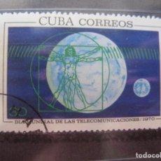 Sellos: CUBA, 1970, DIA INTERNACIONAL DE LAS TELECOMUNICACIONES, YVERT 1406. Lote 255972740