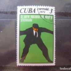 Sellos: CUBA, 1972, EVENTOS DEPORTIVOS DEL AÑO, YVERT 1635. Lote 255974790