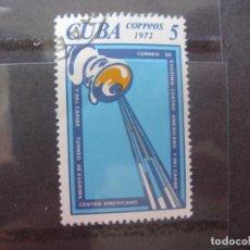 Sellos: CUBA, 1972, EVENTOS DEPORTIVOS DEL AÑO, YVERT 1637. Lote 255975110