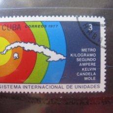 Sellos: *CUBA, 1977, SISTEMA INTERNACIONAL DE UNIDADES, YVERT 2039. Lote 255983760