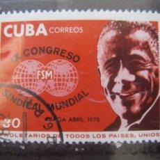 Sellos: *CUBA, 1978, IX CONGRESO FEDERACION SINDICAL MUNDIAL, YVERT 2053. Lote 255984545