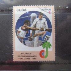 Sellos: *CUBA, 1982, JUEGOS CENTROAMERICANOS Y DEL CARIBE, BOXEO, YVERT 2378. Lote 255986150