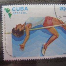 Sellos: *CUBA, 1983, 9 JUEGOS PANAMERICANOS EN CARACAS, SALTO DE ALTURA, YVERT 2446. Lote 255986525